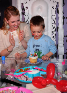 Melissa Joan Hart and her son Mason Wilkerson spotted at his 4th birthday party on January 8th 2010 in Sherman Oaks California 1