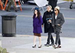 Megan Fox spotted with Mickey Rourke on the filming set of the new movie Passion Play on January 9th 2010 1