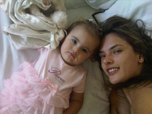 Alessandra Ambrosio recent picture of her daughter Anja Louise while vacationing in January 2010 2