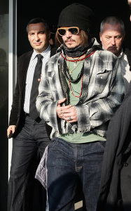 Johnny Depp spotted arriving in Belgrade to attend a Serbian film festival on January 12th 2010 2