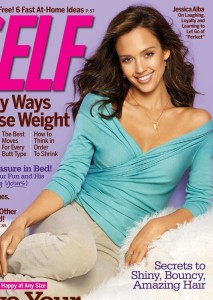 Jessica Alba on the cover of Self Magazine issue of February 2010 4