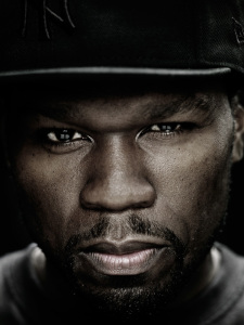 50 cent photo fotr the December 2009  issue of Interview Magazine
