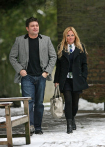 Geri Halliwell seen with Kenny Goss at Willis retail store on January 12th 2010 4