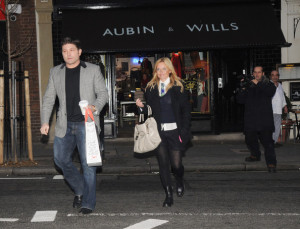 Geri Halliwell seen with Kenny Goss at Willis retail store on January 12th 2010 5
