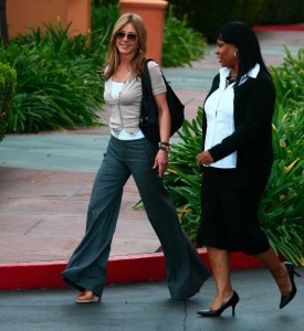 Jennifer Aniston spotted at Disney studios in Los Angeles on January 11th 2010 wearing stylish gray pants 3