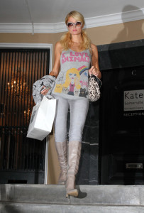 Paris Hilton spotted leaving Kate Somerville Skin Health Experts store in West Hollywood on January 13th 2010 wearing I Love Animals top 8