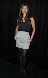 Roselyn Sanchez at the 9th Annual Diamond Fashion Show Preview at the Beverly Hills Hotel in California on January 14th 2010 wearing a gray and black dress 3