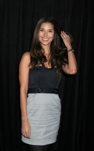 Roselyn Sanchez at the 9th Annual Diamond Fashion Show Preview at the Beverly Hills Hotel in California on January 14th 2010 wearing a gray and black dress 1
