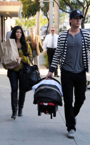 Kourtney Kardashian seen with her boyfriend Scott Disick and their son Mason Dash on January 14th 2010 as they  head to a medical building in Beverly Hills 1