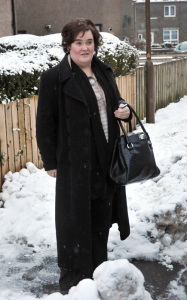 Susan Boyle spotted on January 12th 2010 arriving back to her rural home in Scotland 4