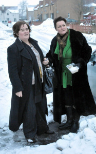 Susan Boyle spotted on January 12th 2010 arriving back to her rural home in Scotland 3