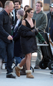 Cindy Crawford photo while on the set of a commercial shoot on January 13th 2010 in Miami Florida 3