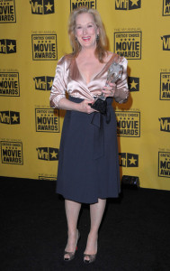 Meryl Streep with Best Actress award in the press room during the 15th annual Critics Choice Movie Awards on January 15th 2010 at the Hollywood Palladium 2