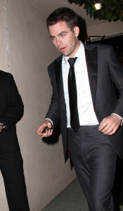 Chris Pine arrives at the Critics Choice Awards afterparty at the Buffalo Club on January 16th 2010 in Santa Monica California 1