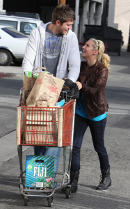 Ashley Tisdale and her boyfriend Scott Speer at Trader Joes on January 10th 2010 in Los Angeles 2