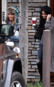 Ashley Tisdale and Vanessa Hudgens together on December 30th 2009 in Toluca Lake California 3 1