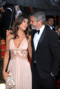 George Clooney and Elisabetta Canalis at the 67th Annual Golden Globe Awards held at The Beverly Hilton Hotel on January 17th 2010 in California