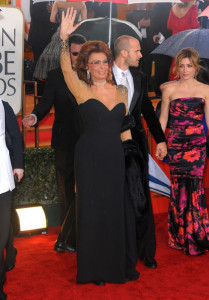 Sophia Loren arrives at the 67th Annual Golden Globe Awards held at The Beverly Hilton Hotel on January 17th 2010 in California