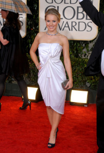 Kristin Bell arrives at the 67th Annual Golden Globe Awards held at The Beverly Hilton Hotel on January 17th 2010 in California