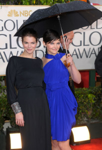 Jeanne Tripplehorn and Ginnifer Goodwin at the 67th Annual Golden Globe Awards held at The Beverly Hilton Hotel on January 17th 2010 in California