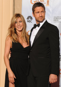 Gerard Butler and Jennifer Aniston in the press room during the 67th Annual Golden Globe Award at The Beverly Hilton Hotel on January 17th 2010 in California 5