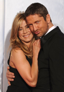 Gerard Butler and Jennifer Aniston in the press room during the 67th Annual Golden Globe Award at The Beverly Hilton Hotel on January 17th 2010 in California 2