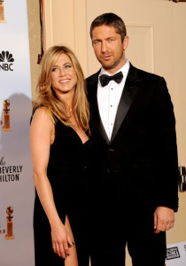 Gerard Butler and Jennifer Aniston in the press room during the 67th Annual Golden Globe Award at The Beverly Hilton Hotel on January 17th 2010 in California 4