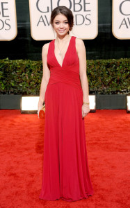 Sarah Hyland at the 67th Annual Golden Globe Awards held at The Beverly Hilton Hotel on January 17th 2010 in California