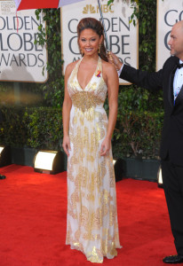 Vanessa Minnillo arrives at the 67th Annual Golden Globe Awards held at The Beverly Hilton Hotel on January 17th 2010 in California
