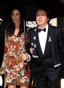Paul McCartney and his girlfriend Nancy Shevell attend the 67th Annual Golden Globe Awards held at The Beverly Hilton Hotel on January 17th 2010 in California