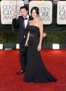 David Arquette and Courteney Cox Arquette attend the 67th Annual Golden Globe Awards held at The Beverly Hilton Hotel on January 17th 2010 in California