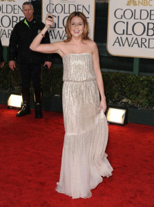 Jenna Fischer at the 67th Annual Golden Globe Awards held at The Beverly Hilton Hotel on January 17th 2010 in California