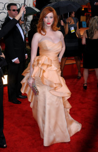 Christina Hendricks attends the 67th Annual Golden Globe Awards held at The Beverly Hilton Hotel on January 17th 2010 in California