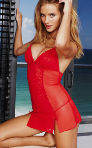 Rosie Huntington Whiteley photo shoot of February 2010 for a Valentines Day ad campaign of Victorias Secret 2