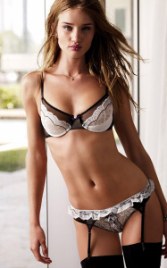 Rosie Huntington Whiteley photo shoot of February 2010 for a Valentines Day ad campaign of Victorias Secret 4
