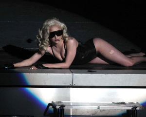 Lady GaGa photo from her performance on stage on January 20th 2010 at the Radio City Music Hall 4