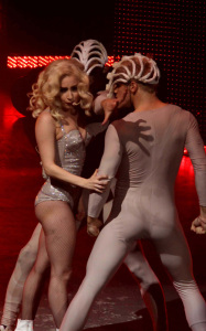 Lady GaGa photo from her performance on stage on January 20th 2010 at the Radio City Music Hall 14