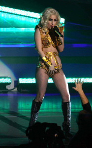 Lady GaGa photo from her performance on stage on January 20th 2010 at the Radio City Music Hall 7