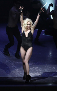 Lady GaGa photo from her performance on stage on January 20th 2010 at the Radio City Music Hall 8