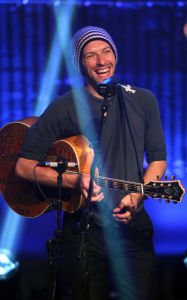 Chris Martin performs at the Hope For Haiti Now telethon held on January 22nd 2010 in London