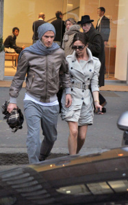 David and Victoria Beckham were spotted together on January 22nd 2010 where they shopped at Dolce and Gabbanas showroom in Milan 2