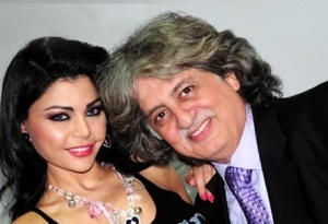 Haifa Wehbe from her appearance in the kids talent show Star Zghar in November 2009 in Abu Dhabi with Stapho Jabra