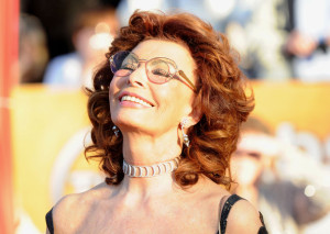 Sophia Loren arrives at the 16th Annual Screen Actors Guild Awards on January 23rd, 2010