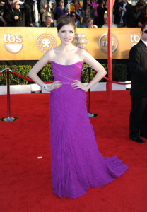 Anna Kendrick attends the 16th Annual Screen Actors Guild Awards on January 23rd, 2010