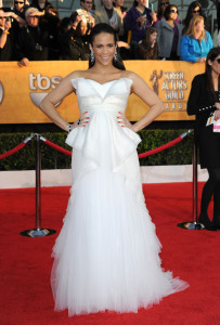 Paula Patton arrives at the 16th Annual Screen Actors Guild Awards on January 23rd, 2010