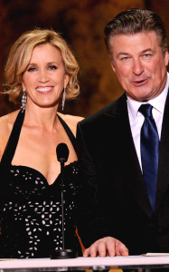 Alec Baldwin with Felicity Huffman onstage during the 16th Annual Screen Actors Guild Awards held at the Shrine Auditorium on January 23rd 2010 in Los Angele