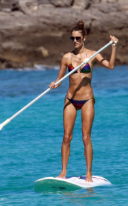 Alessandra Ambrosio photo from her stay in St Barts on January 23rd 2010 where she enjoyed sufring at the sea 4