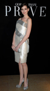 Anne Hathaway attends Giorgio Armani Prive Fashion Show during Paris Fashion Week Haute Couture SS 2010 at Palais de Chaillot on January 25th 2010 in France 3