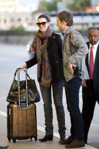 Anne Hathaway and her boyfriend Adam Shulman seen together on January 23rd 2010 while at Los Angeles International Airport 3