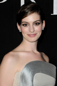 Anne Hathaway attends Giorgio Armani Prive Fashion Show during Paris Fashion Week Haute Couture SS 2010 at Palais de Chaillot on January 25th 2010 in France 1